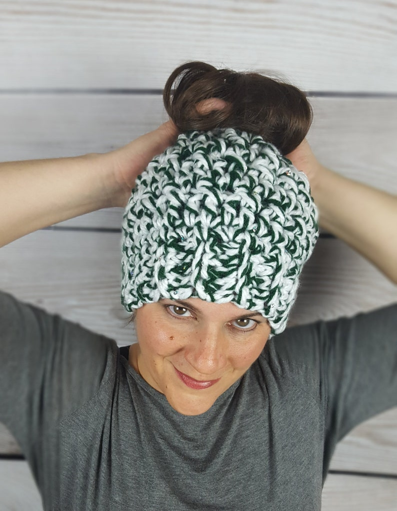 08e2f380f6a Michigan State Messy Bun Hat MSU Messy Bun Beanie Michigan