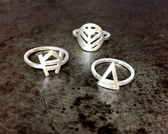 Assorted Pinky or Mid finger rings by Maria Tritico
