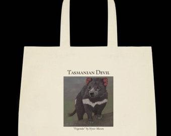 Tasmanian Devil Art Print Tote Bag