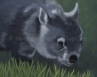 Limited Edition Wombat Print/ Original Australian Wildlife Art