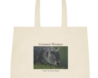 Wombat Art Print Tote Bag