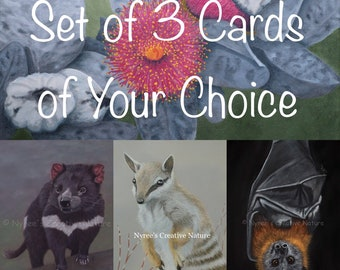 Set of Any 3 Blank Greeting Cards