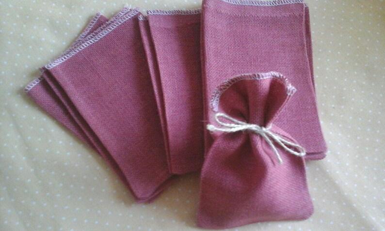 jewelry storage zeroweist baby,jewelry packaging 10 Linen jewellery bags raspberry Wedding Favor bags Rustic Favor Bags,burlap gift bag