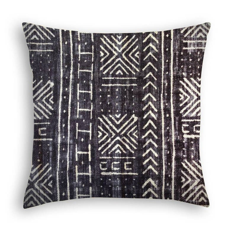 Vintage African Mud Cloth Pillow Cover