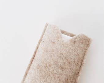 Brown IPHONE SLEEVE felt case cover, iPhone 7 plus 8 plus iPhone X case, felt Phone sleeves, iPhone cases, Cell phone cover, phone cases