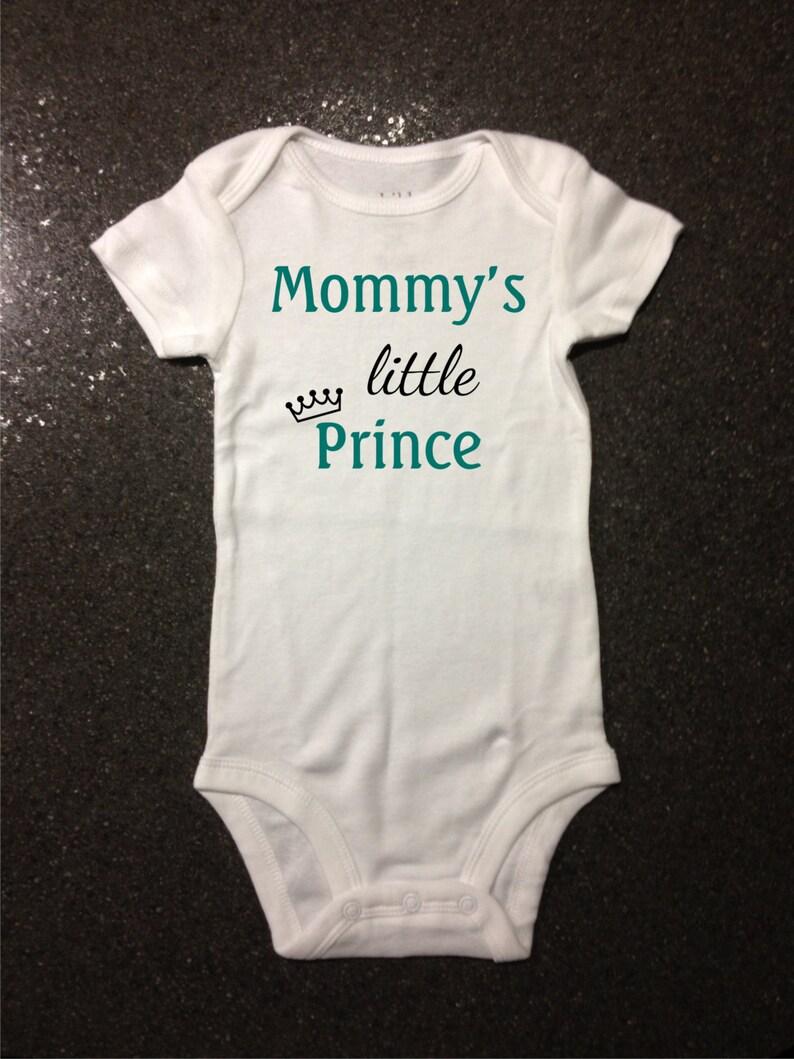 d6aa9c00bf0b Mommy s Little Prince bodysuit t-shirt