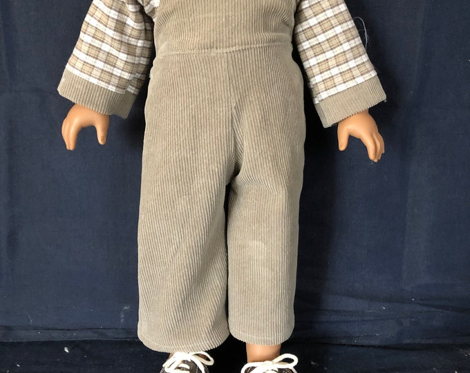 """Featured listing image: American Handmade Boy 18"""" doll clothes."""