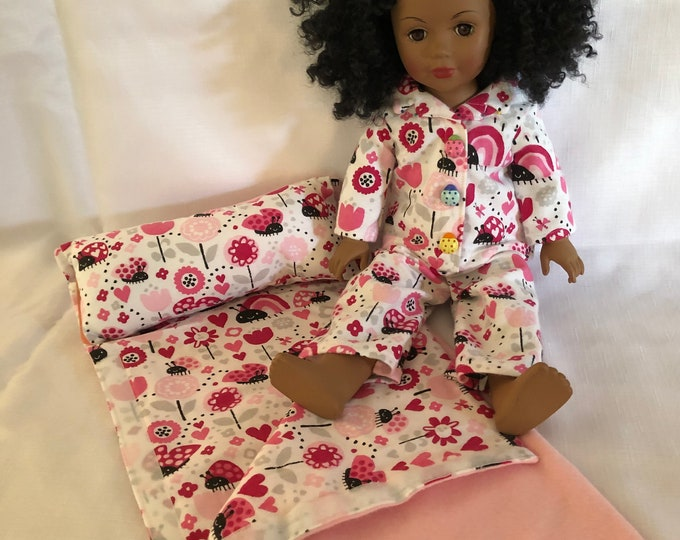 """Featured listing image: American Handmade Girl doll clothes.  Fits most other 18"""" dolls too."""