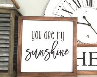 You are my sunshine Wood Sign // home decor, nursery decor