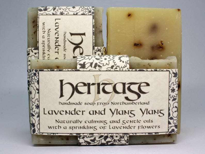 Natural Handmade  Soap bar. Ylang Ylang and Lavender. Vegan image 0