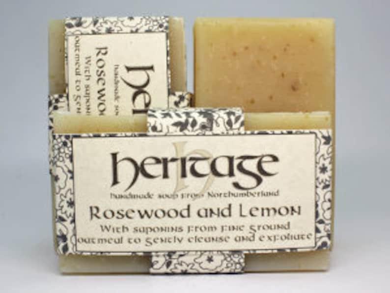 Natural Handmade Rosewood & Lemon Soap bar. Vegan Soap. Luxury image 0