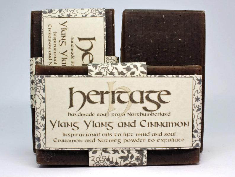 Natural Handmade Ylang Ylang & Cinnamon Soap bar. Vegan Soap. image 0