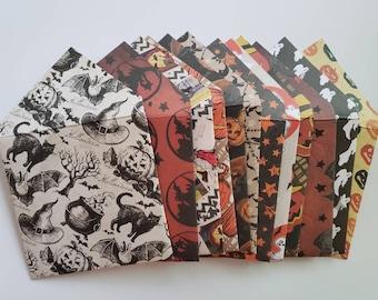 Halloween Envelopes Handmade Assorted Set of 10