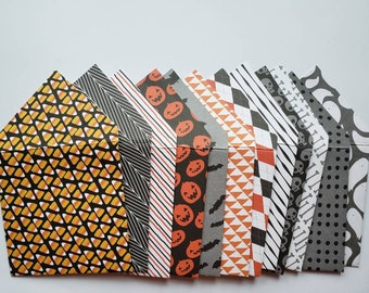Halloween Gift Card and Gratuity Envelopes Handmade, Assorted Set of 12