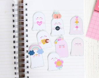 Ghost Sticker Set 8 - Halloween Stickers   Sticker For Happy Mail   Cute Sticker Set For Halloween