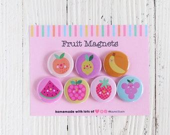 Fruit Magnets - Cute Magnet Set Of 7   Magnets For Friend   Gift For Birthday   Kawaii Fridge Magnets