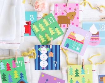 Advent Calendar For Kids - Christmas Tags Set 24   Christmas Countdown   Advent Calendar Kit   Christmas Gift For Kids
