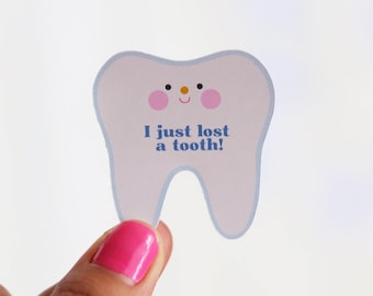 I Just Lost A Tooth Sticker Set 12 - Dentist Stickers   Tooth Fairy Stickers