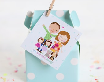 DIGITAL Family Tags Set  -    Personalized Gift Tags   Cute Family Cards   Personalized Cards   Custom Family Design
