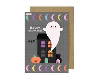 Cute Halloween Card - Halloween Card   Happy Halloween Card   Ghosts Card   Cards For Kids