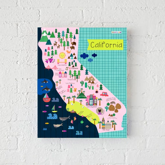 California Map Wall Print Decor Kids California | Etsy on weather for california, brochure for california, region for california, map the world, postal code for california, map virginia, flag for california, grid for california, map district of columbia, map wisconsin, population density for california, water for california, resources for california, zip code for california, address for california, introduction for california, area code for california, climate for california, longitude for california, map new jersey,