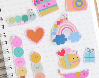 Birthday Sticker Set 12 - Cute Stickers   Sticker For Happy Mail   Cute Sticker Set   Stickers For Journal   Colorful Stickers