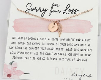 Gift for Child Loss - Baby Loss Gift - Loss of Child Necklace - Gift for grieving - Sympathy Gift - In loving Memory - son, daughter
