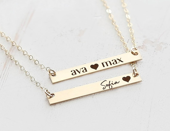 Baby Name Necklace For Mom Child Name Necklace Children Necklace Personal Name Necklace Children Gift