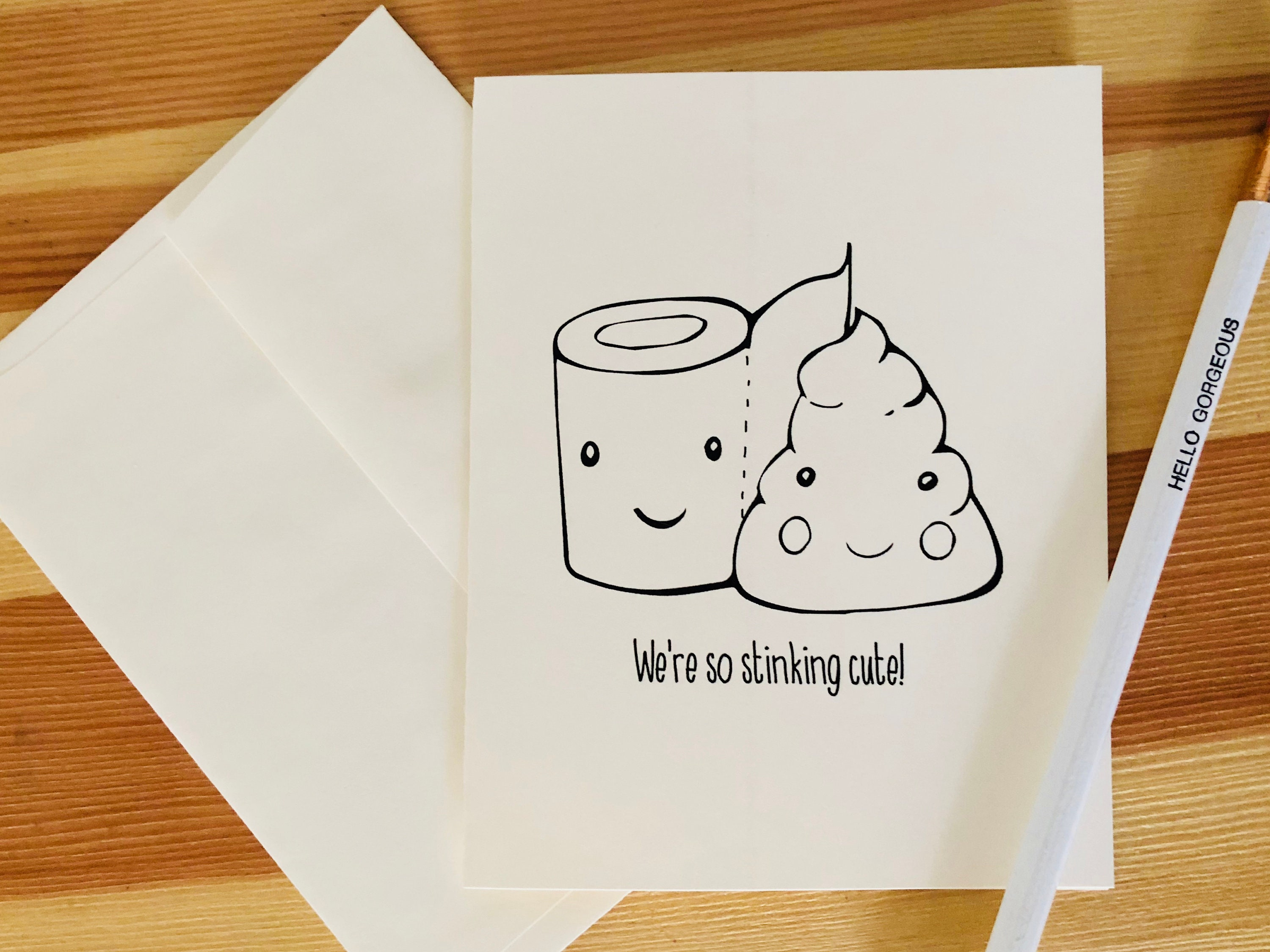 We are so stinking cute poop Card | Funny Card | poop Greeting Card | Funny  poo Greetings | toilet Card | pun | I Love you Card for Him