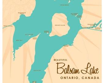 Map of lake ontario | Etsy