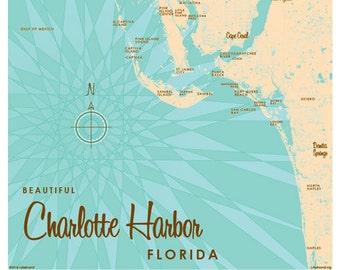 Port Charlotte Florida Map.Port Charlotte Map Etsy