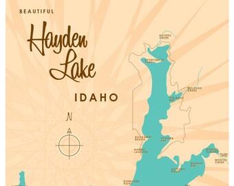 Hayden Lake Id Map Etsy