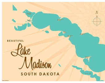 Lake Madison, SD Map Print