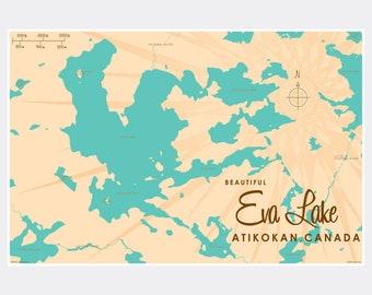 Lake ontario map | Etsy