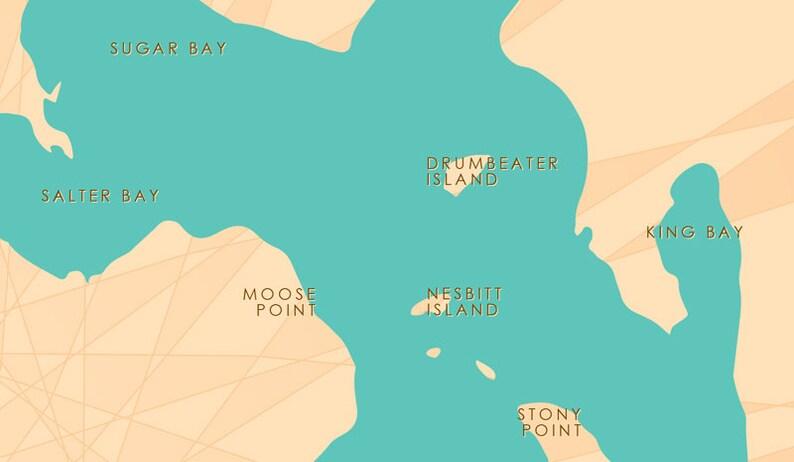 Pokegama Lake, MN Map Art Barrel End