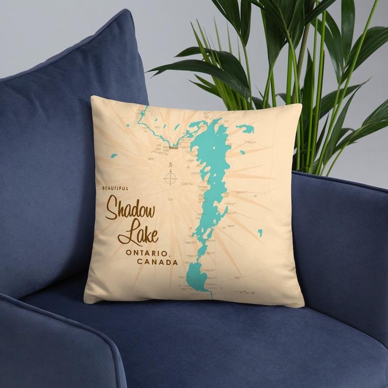 Shadow Lake Ontario Canada Pillow