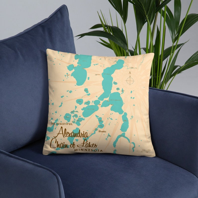 Alexandria Chain of Lakes Minnesota Pillow