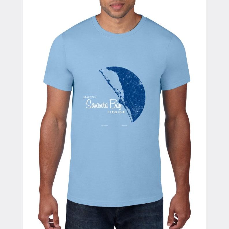 Sarasota Bay Florida T-Shirt Map Art
