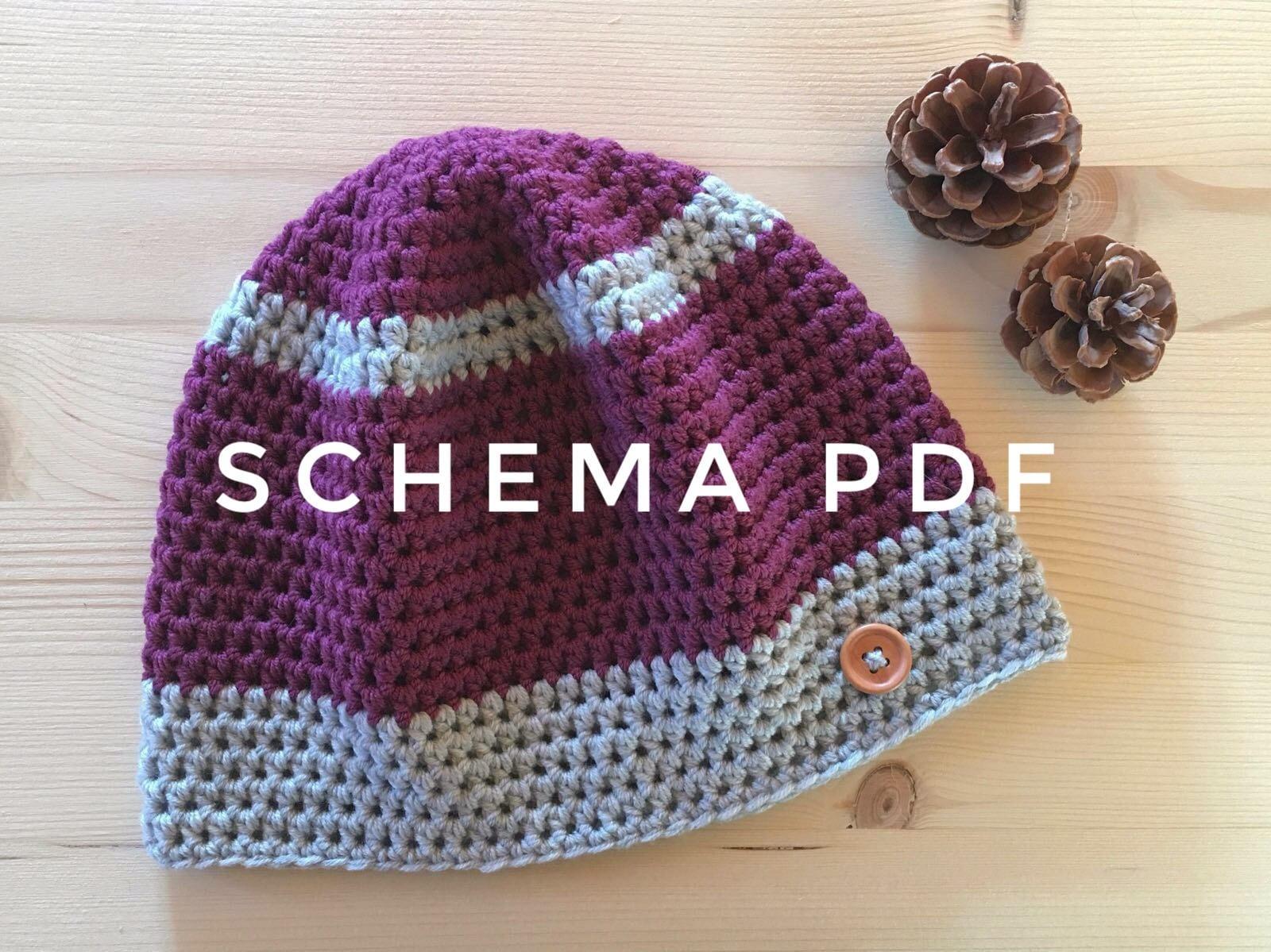 Crochet Pattern Cappello Uncinetto Cappello Donna Schema Etsy