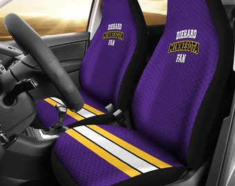 Diehard Minnesota Fan Car Seat Covers minnesota vikings logo minnesota gifts vikings clothing vikings vikings logo football fan & Minnesota vikings | Etsy