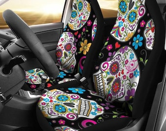 Kaleidoscope Skulls Car Seat Covers Cover For Girl Owner Gift Sugar Skull
