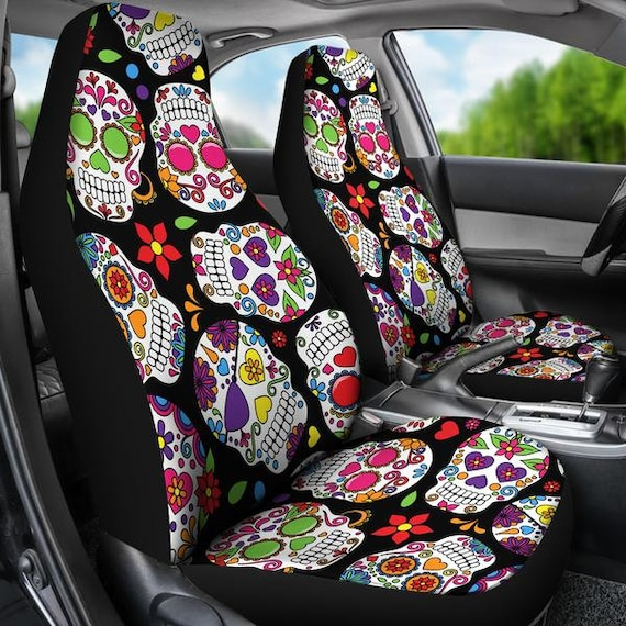 Sugar Skull Car Seat Covers Cover For Girl Owner Gift