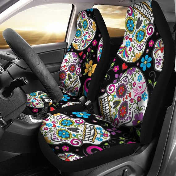 Kaleidoscope Skulls Car Seat Covers Cover