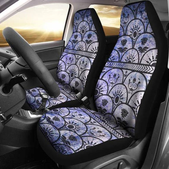 Boho Grunge Car Seat Cover 2 Accessories