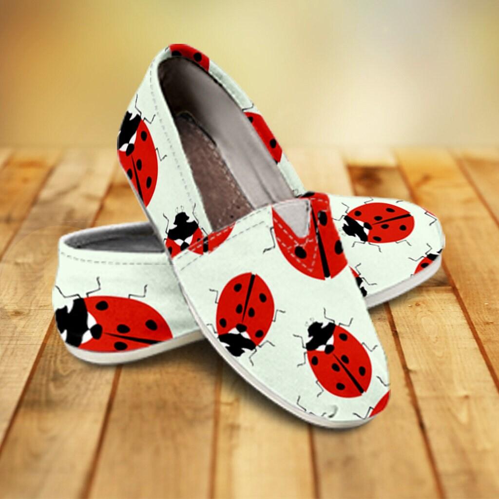 Lady Bug ladybugs, Casual Shoes, lady bug, ladybugs, Bug lady bug gifts, ladybug girl, ladybug clipart, ladybug cartoon, slip on shoes, custom shoes 56330e