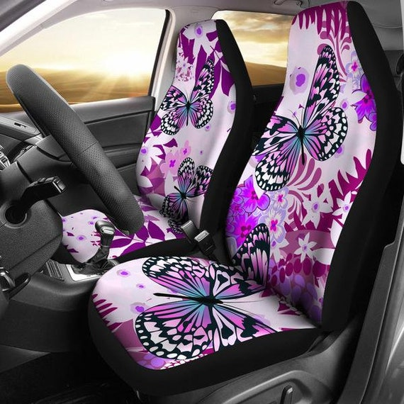 Purple Butterfly Car Seat Covers Accessories