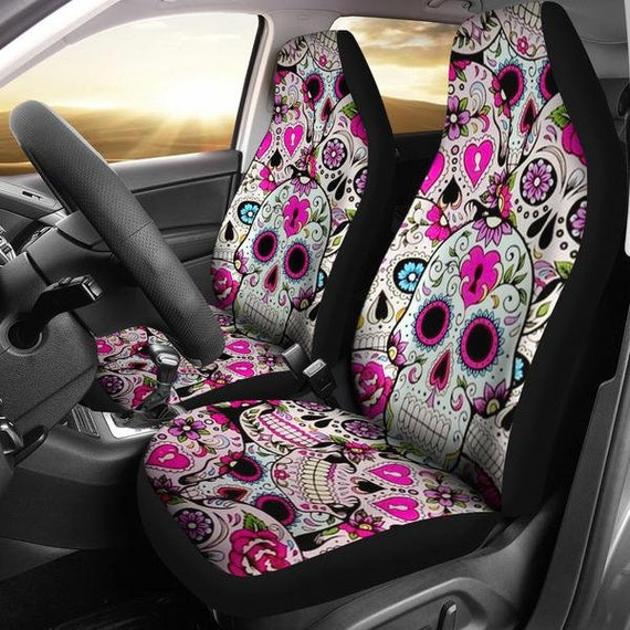 Party Skull Car Seat Covers Cover For