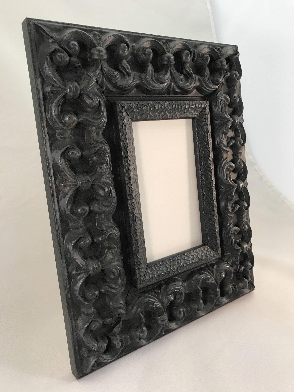 Black Ornate Picture Frame 3x5, 4x6, 5x7, 8x10, 11x14, 16x20, 18x24 ...