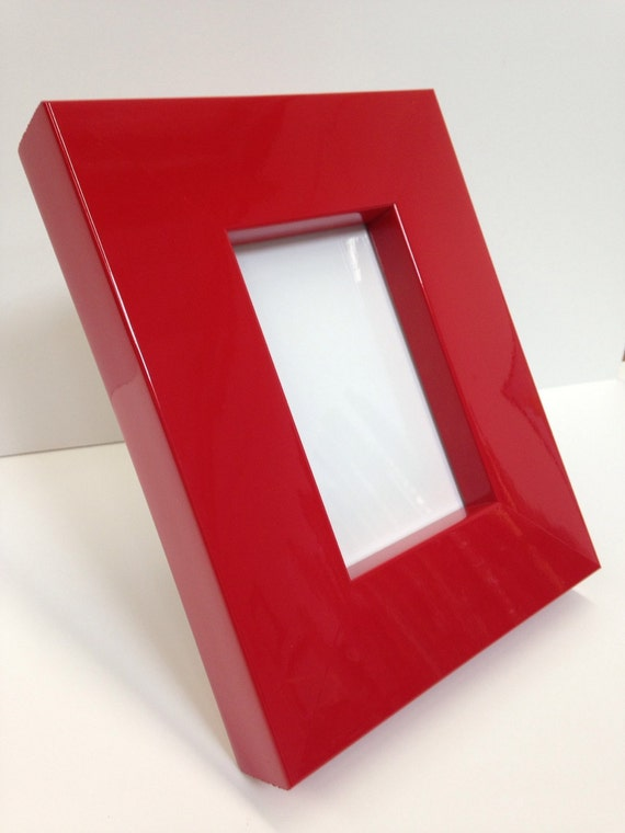Thick Red Lacquer Picture Frame 3x5 4x6 5x7 8x10 11x14 Etsy