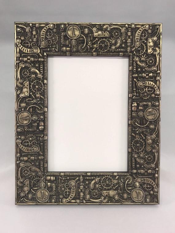 STEAMPUNK Picture Frame Silver 3x5 4x6 5x7 8x10 11x14 | Etsy